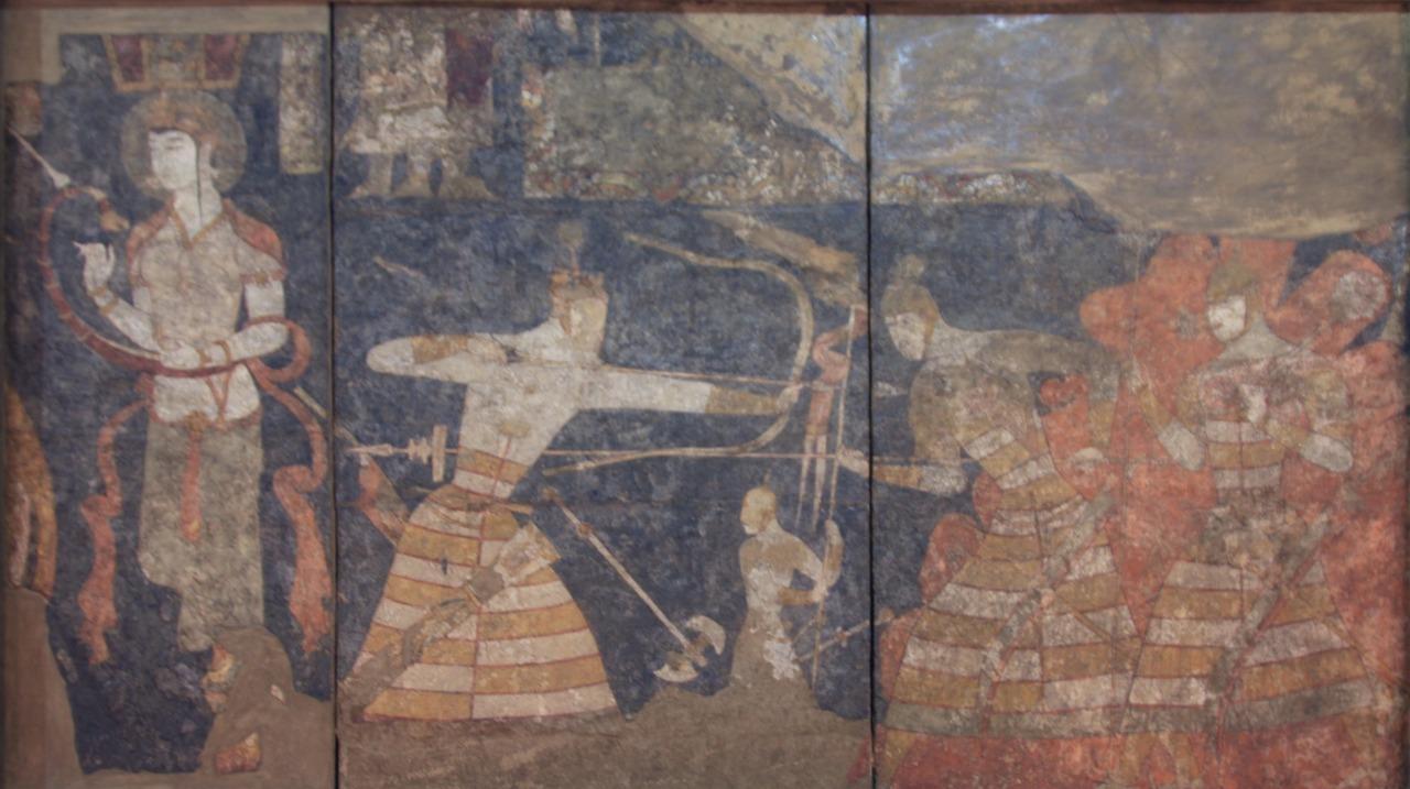 クローン文化財:ペンジケント遺跡壁画