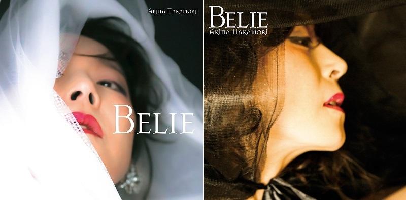 中森明菜『Belie』 左:初回盤 右:通常盤