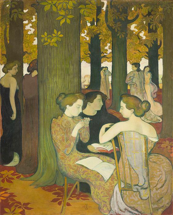 モーリス・ドニ『ミューズたち』 1893年 油彩、カンヴァス ©Musée d'Orsay, Dist. RMN-Grand Palais / Patrice Schmidt / distributed by AMF