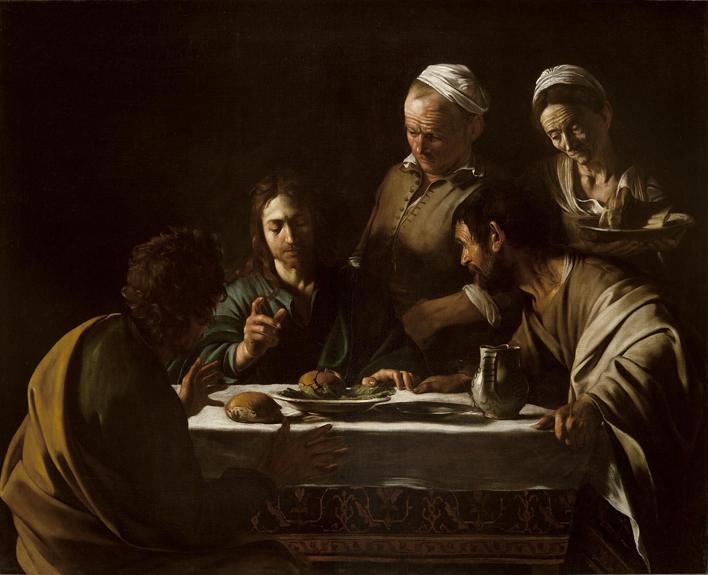 カラヴァッジョ 《エマオの晩餐》 1606年 ミラノ、ブレラ絵画館 Photo courtesy of Pinacoteca di Brera, Milan