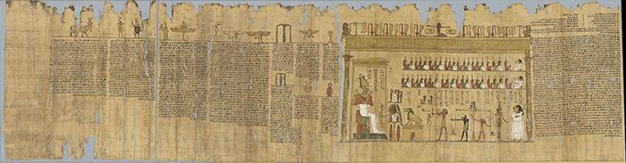 《タレメチュエンバステトの「死者の書」》前332~前246年頃  (C)Staatliche Museen zu Berlin, Ägyptisches Museum und Papyrussammlung Berlin / A. Paasch