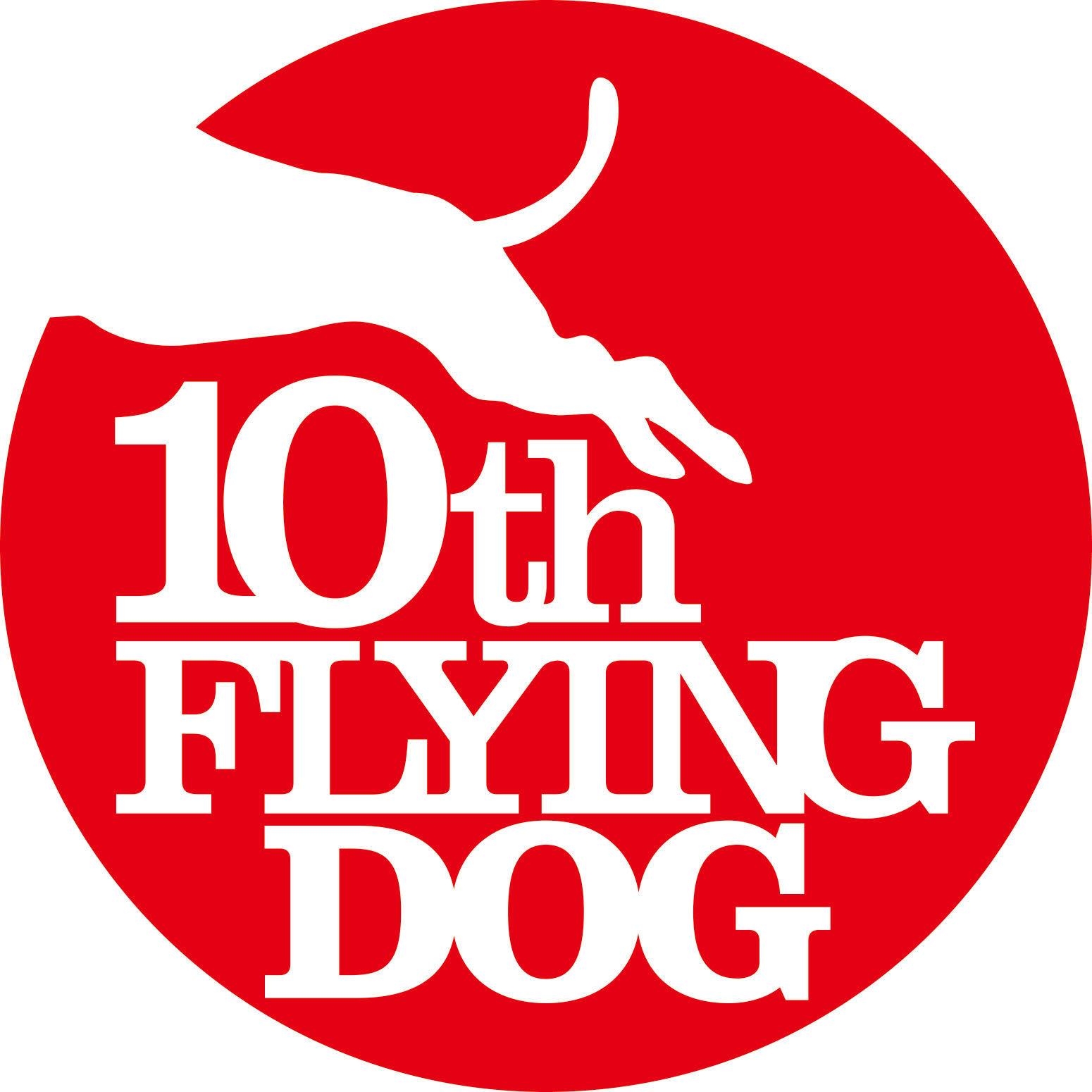フライングドッグ10周年記念ロゴ (C)FlyingDog, Inc.