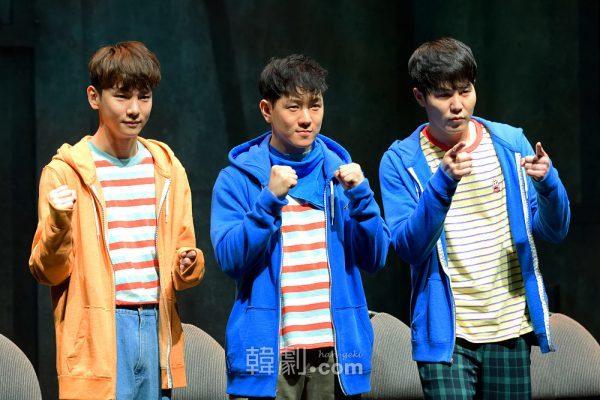 (写真左から)主人公ビョング役のSHINee Key、チョン・ウォニョン、イ・ユル