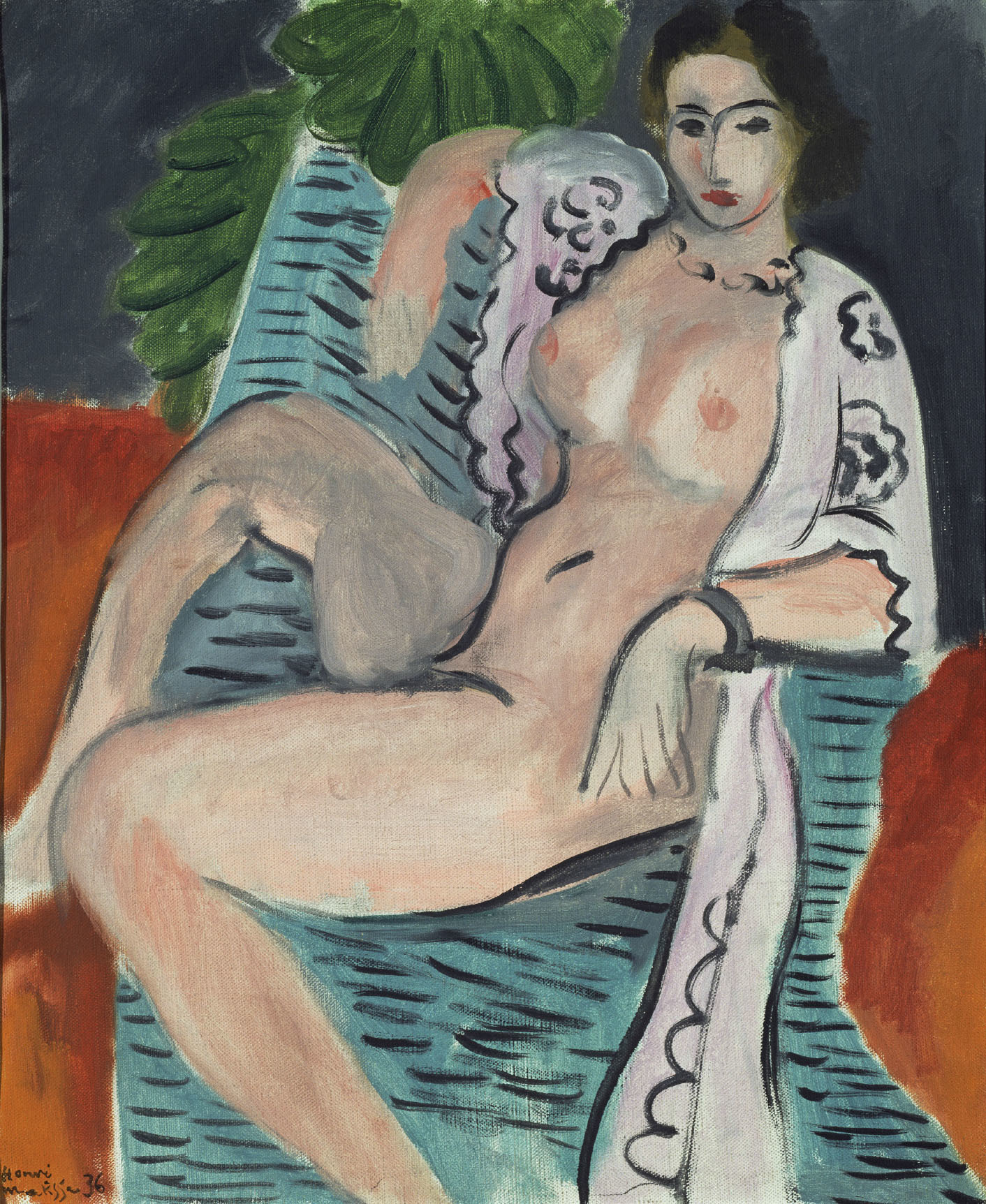 アンリ・マティス 《布をまとう裸婦》 1936年 油彩/カンヴァス 45.7×37.5cm