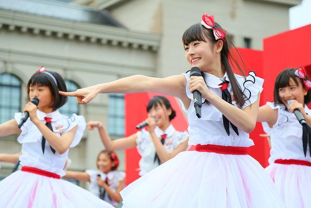 2015年8月21日に新潟・新潟市歴史博物館みなとぴあにて行われたNGT48お披露目イベント出演時の加藤美南。(c)AKS