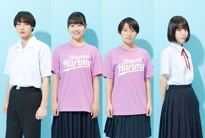 関西チーム:左より、平井亜門・藤谷理子・左京ふうか・中井友望