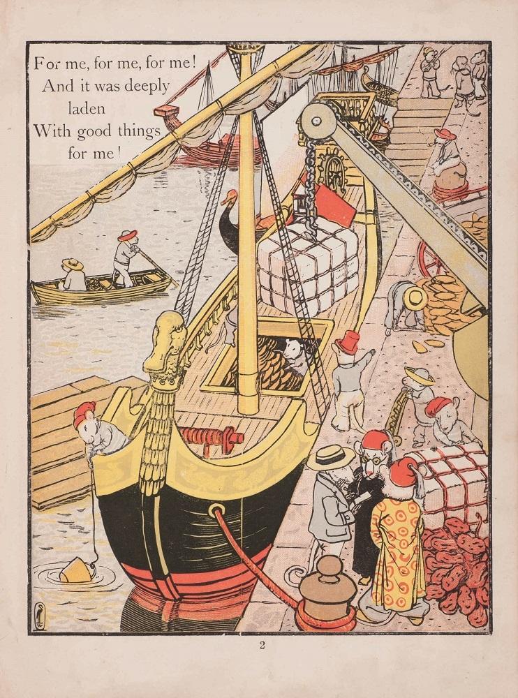 ウォルター・クレイン『妖精の舟』1870年 個人蔵