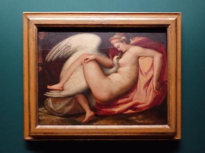 フランチェスコ・ブリーナ(帰属)《レダと白鳥(失われたミケランジェロ作品に基づく)》 1575年頃 カーサ・ブオナローティ