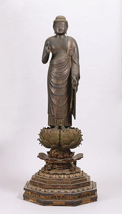 重要文化財 《阿弥陀如来立像》 平安~鎌倉時代、京都・知恩院蔵、通期