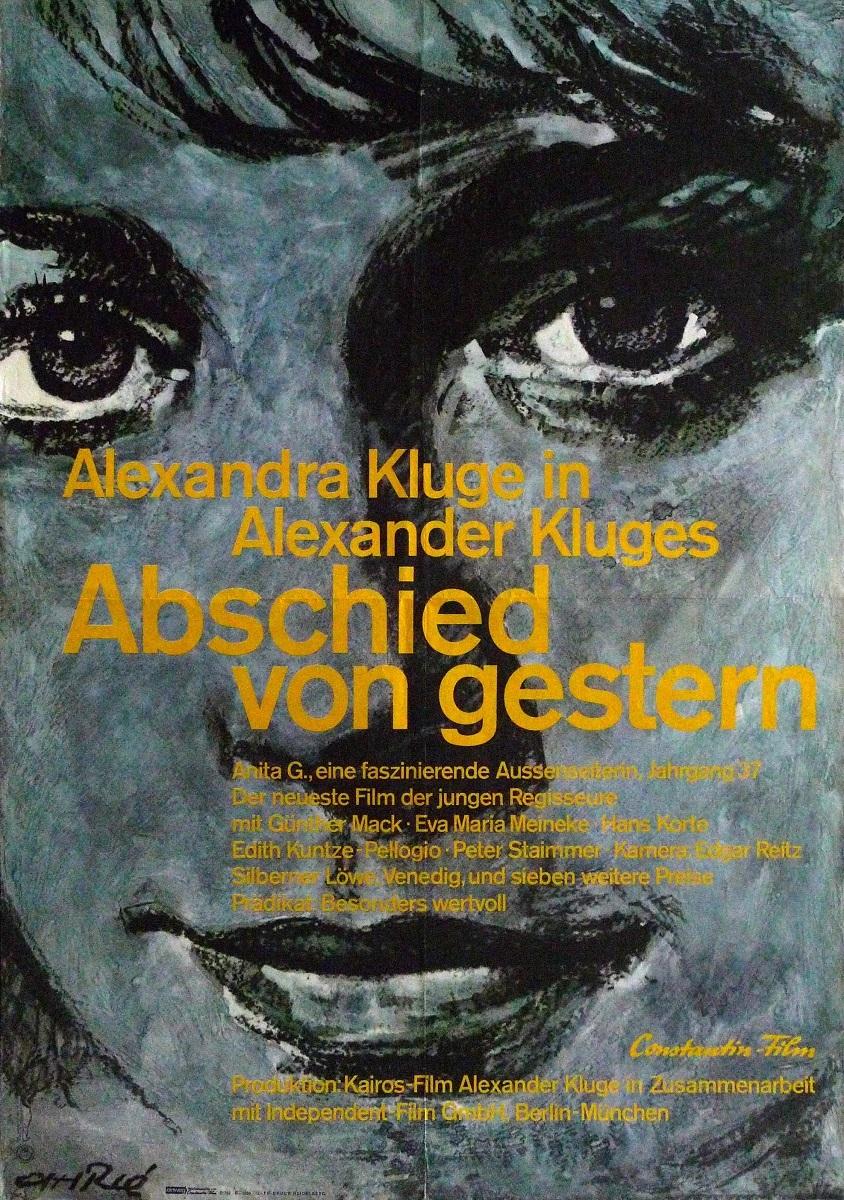 『昨日からの別れ』(1966 年/西ドイツ/アレクサンダー・クルーゲ監督) ポスター:フェリー・アーレ(1966 年) ドイツ映画研究所所蔵