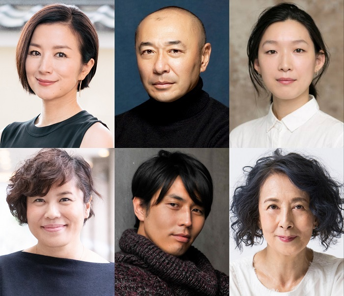 (上段左から)鈴木京香、高橋克実、江口のりこ(下段左から)青木さやか、袴田吉彦、銀粉蝶