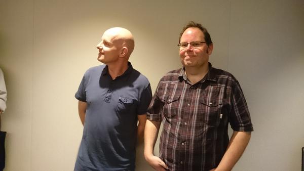 フランク氏(左)とブラッド氏(右)