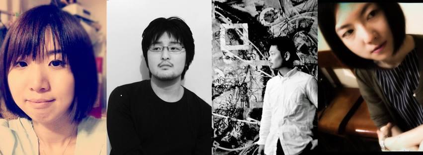 左から:フルカワカイ(同人誌作家)、竹鼻 良文(立体造形デザイナー)、tttttan(線描家)、おばま えりか(イラストレーター・WEB/グラフィックデザイナー)