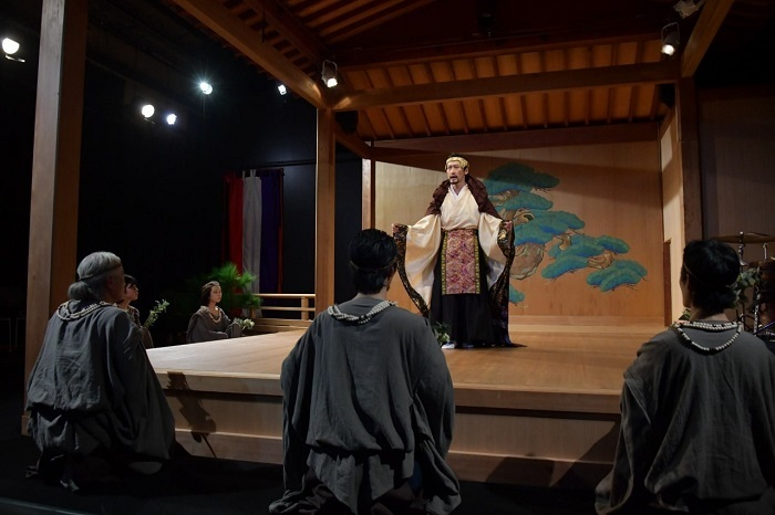 『オイディプス王』試演会より 撮影:小田島万里