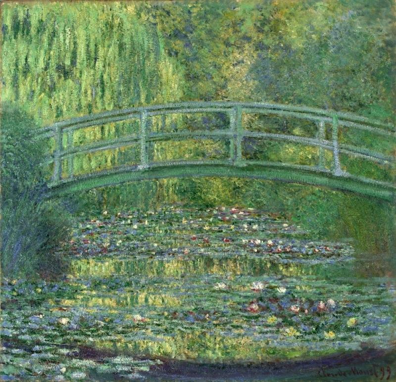 クロード・モネ《睡蓮の池》1899年 ポーラ美術館