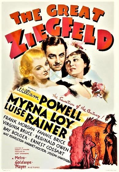 ジーグフェルドの伝記映画「巨星ジーグフェルド」(1936年)、アメリカ公開時のポスター