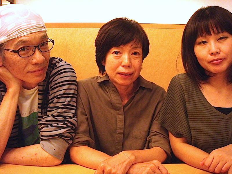 左から・出演者の小熊ヒデジ、江上定子、演出家の澄井葵
