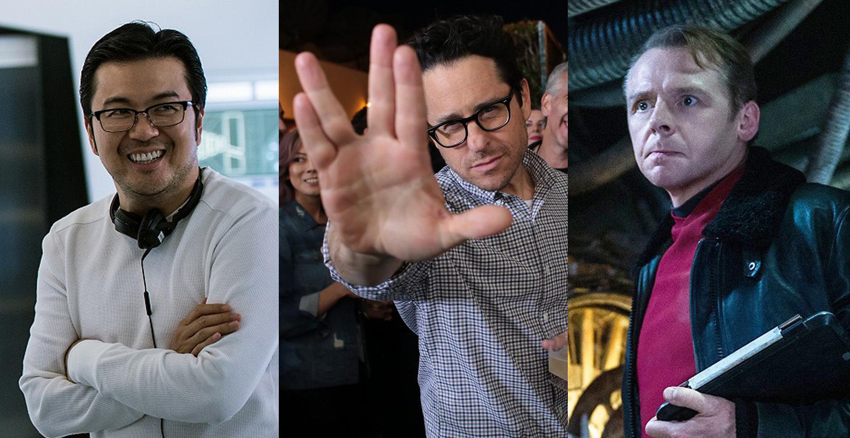 左から、ジャスティン・リン監督、J・J・エイブラムス(製作)、サイモン・ペッグ(脚本・出演)