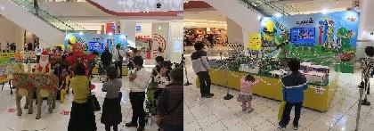 大阪・万博のエキスポシティにレゴブロックのサンタが登場!