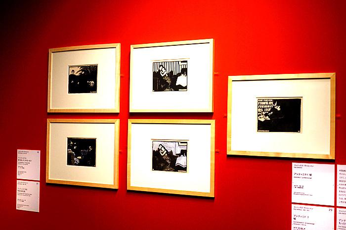 『オルセーのナビ派展』展示風景、ヴァロットンの連作《アンティミテ》