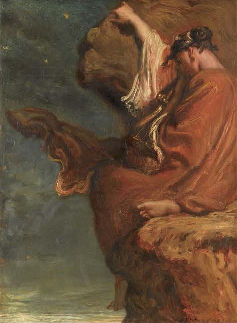 《サッフォー》 テオドール・シャセリオー 1849年 ルーヴル美術館(オルセー美術館に寄託) Photo©RMN-Grand Palais (musée d'Orsay) / Adrien Didierjean / distributed by AMF