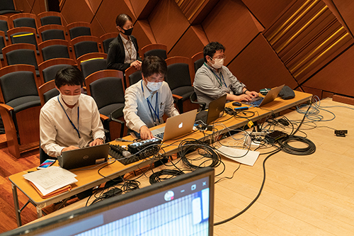 ヤマハによる技術協力(日本会場)
