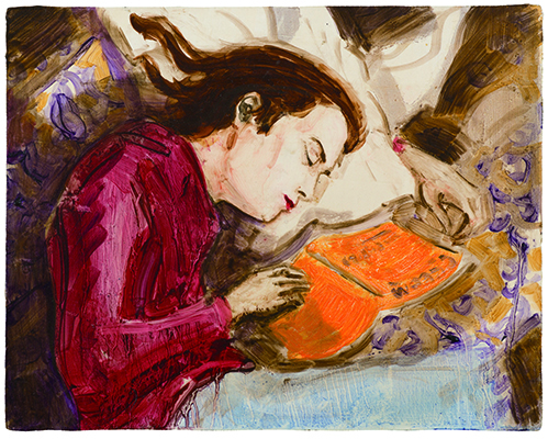 『Kurt Sleeping』1995 板に油彩 27.9×35.6 cm (c)Elizabeth Peyton, courtesy Sadie Coles HQ, London, Gladstone Gallery, New York and Brussels, neugerriemschneider, Berlin