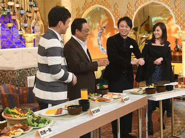 バイキング料理を実食する前田敦子(右)。(c)TBS