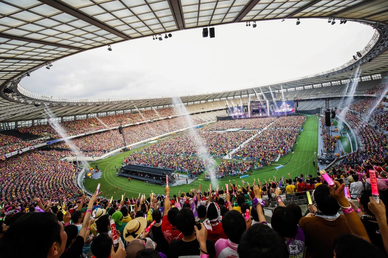 『ももクロ夏のバカ騒ぎ2017 -FIVE THE COLOR Road to 2020- 味の素スタジアム大会会場』1日目 Photo by HAJIME KAMIIISAKA+Z