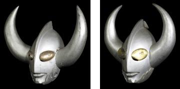 左から『ウルトラマンA』 登場Ver 『ウルトラマンタロウ』 登場Ver 【展示:ウルトラの父 マスク】