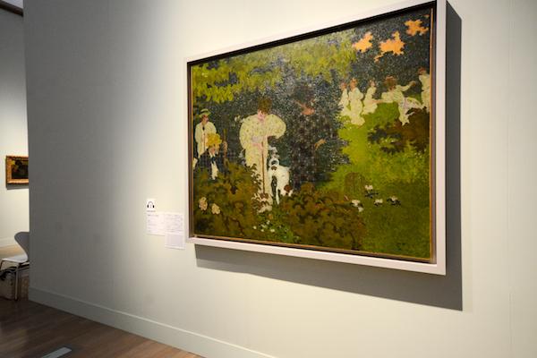 手前/ピエール・ボナール《黄昏(クロッケーの試合)》 1892年 油彩、カンヴァス オルセー美術館