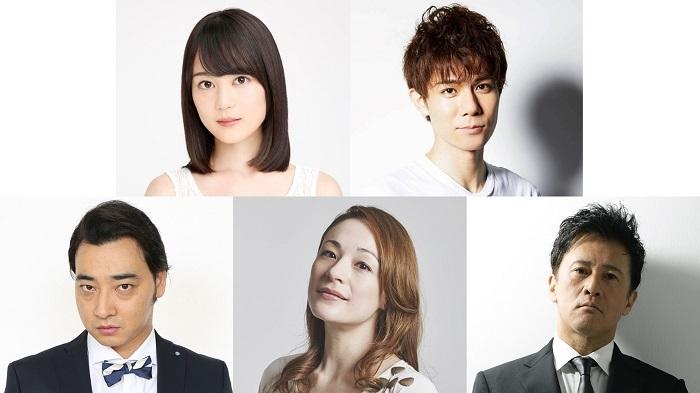 (上段左から)生田絵梨花、柿澤勇人(下段左から)斉藤慎二、シルビア・グラブ、橋本じゅん