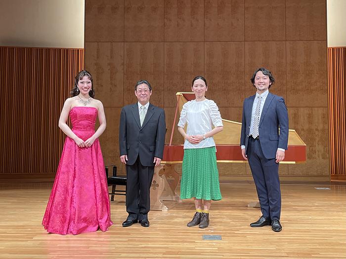 (左から)雨笠佳奈、上尾直毅、中村蓉、澤原行正