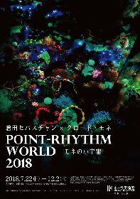 増田セバスチャン、モネの名画《睡蓮の池》をインスタレーションで表現 『Point-Rhythm World 2018 -モネの小宇宙-』