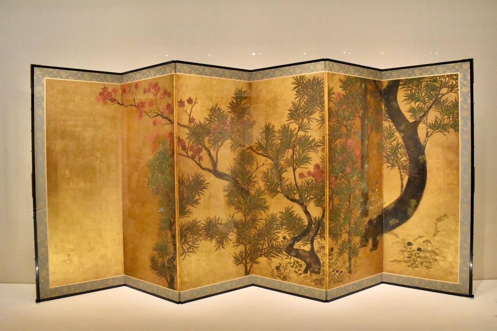 伝 俵屋宗達 《槙楓図》 17世紀(江戸時代) 山種美術館蔵