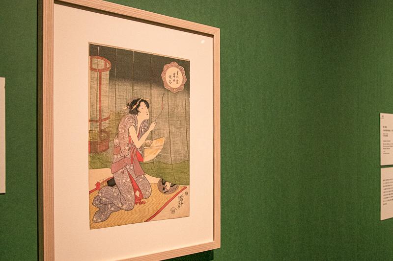 歌川国貞《星の霜当世風俗 蚊やき》太田記念美術館(前期展示)