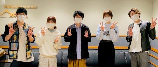 写真左から、 岩崎諒太、 前川涼子、 榎木淳弥、 青木瑠璃子、 沖野晃司