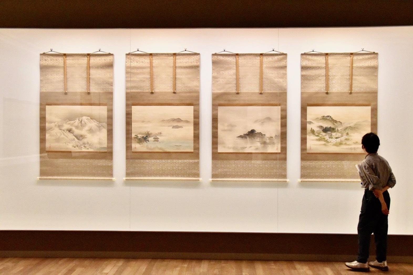 野村文挙 《近江八景図》 明治32年(1899) 滋賀県立近代美術館蔵 東京展:通期4幅ずつ展示