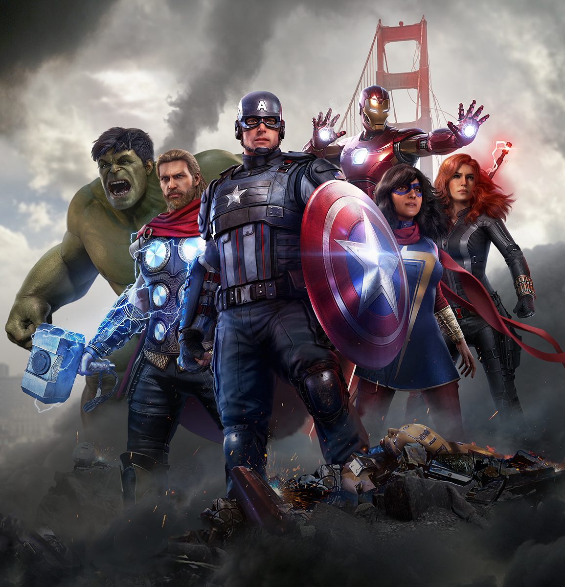 『Marvel's Avengers(アベンジャーズ)』キービジュアル C)2020 MARVEL. Developed by Crystal Dynamics and Eidos Montréal. Development support provided by Nixxes. All rights reserved.