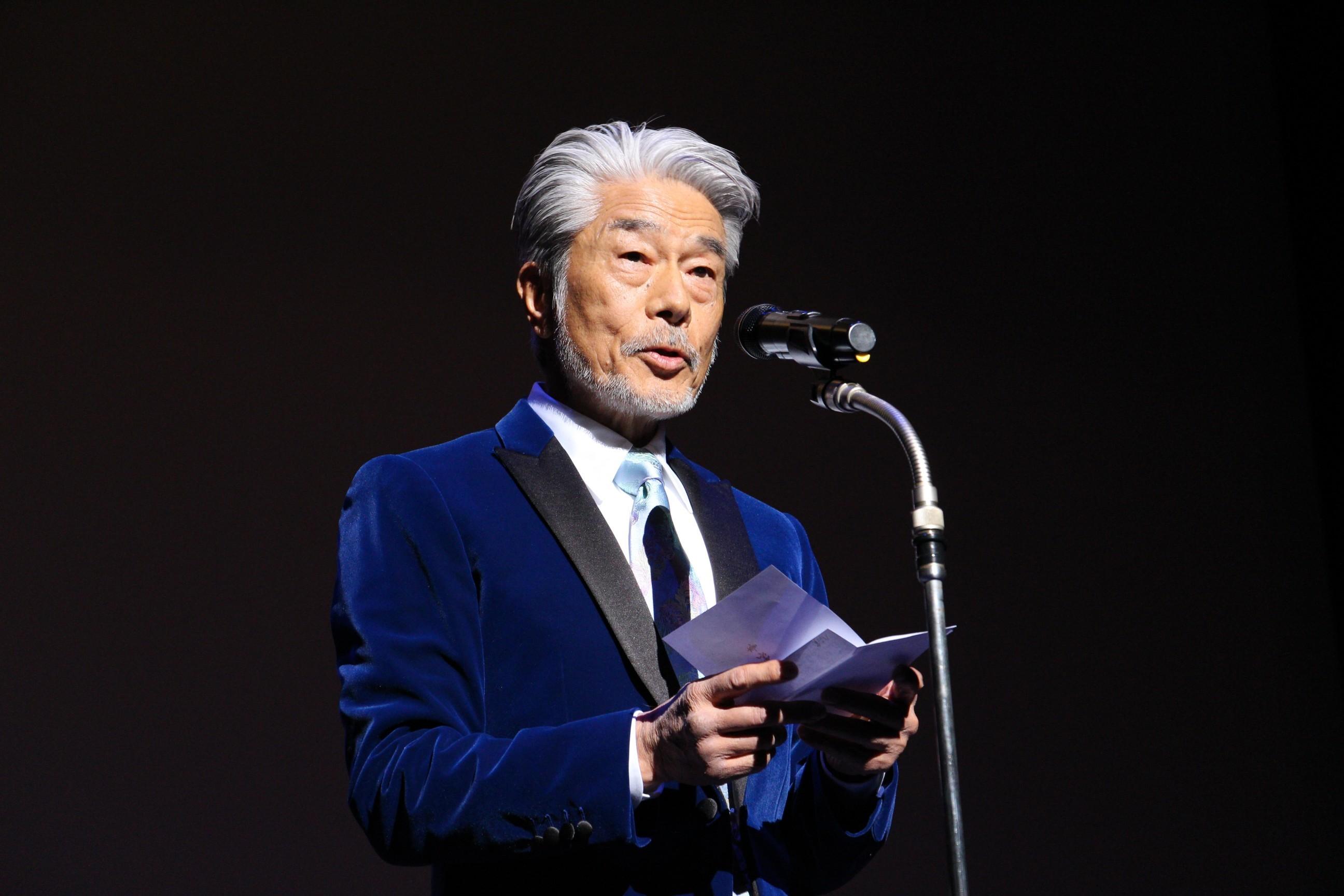 作品賞プレゼンターとして登壇した俳優・倉田保昭