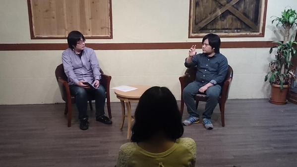 左:園田喬し(BITE編集長) 右:今田健太郎(アルルル) ⓒBITE公式Twitter
