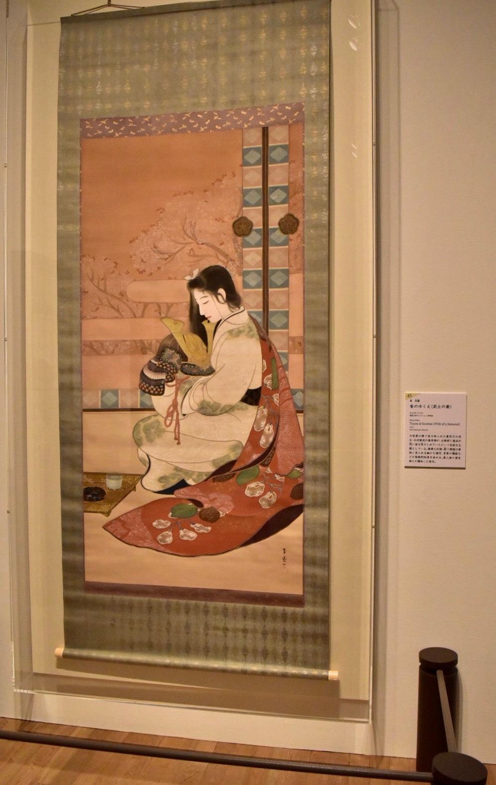 島成園 《香のゆくえ(武士の妻)》 大正4年 福富太郎コレクション資料室蔵