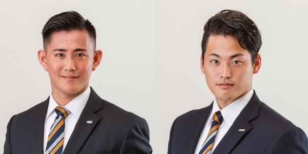 H.C.栃木日光アイスバックスの乾純也(左)と大津夕聖(右)