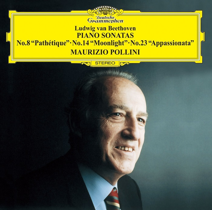 『ベートーヴェン:ピアノ・ソナタ第8番《悲愴》・第14番《月光》・第23番《熱情》』マウリツィオ・ポリーニ ジャケット写真