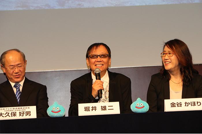 (左から)大久保 好男・堀井 雄二・金谷 かほり ©田口 紫穂