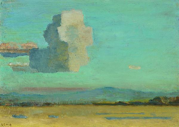 《鳶形山》油彩・板 1932年 個人蔵