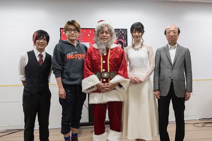 (左から)百花繚乱、湯澤幸一郎、堀江貴文、長谷川かすみ、片岡義朗