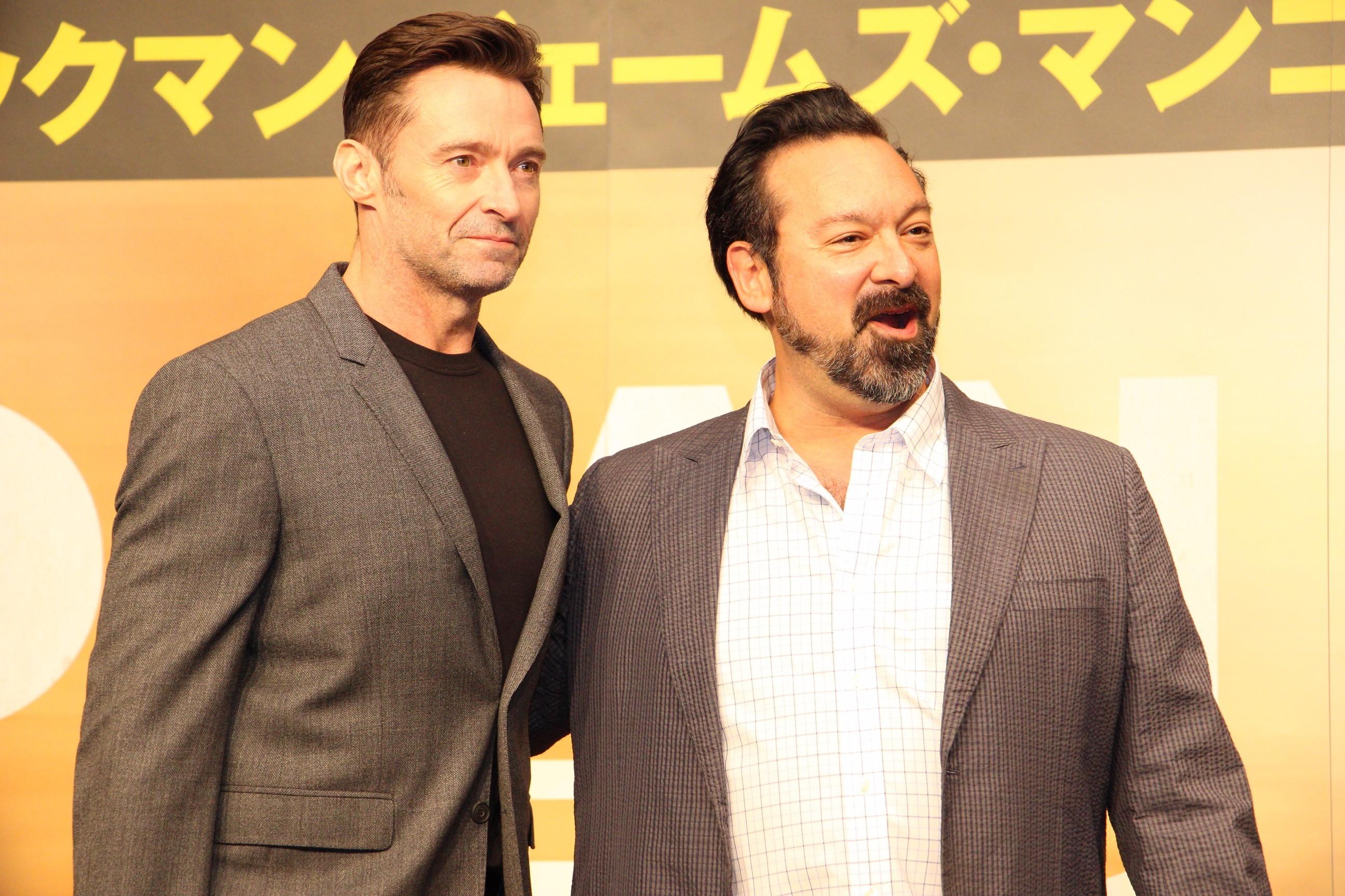 左から、ヒュー・ジャックマン、ジェームズ・マンゴールド監督