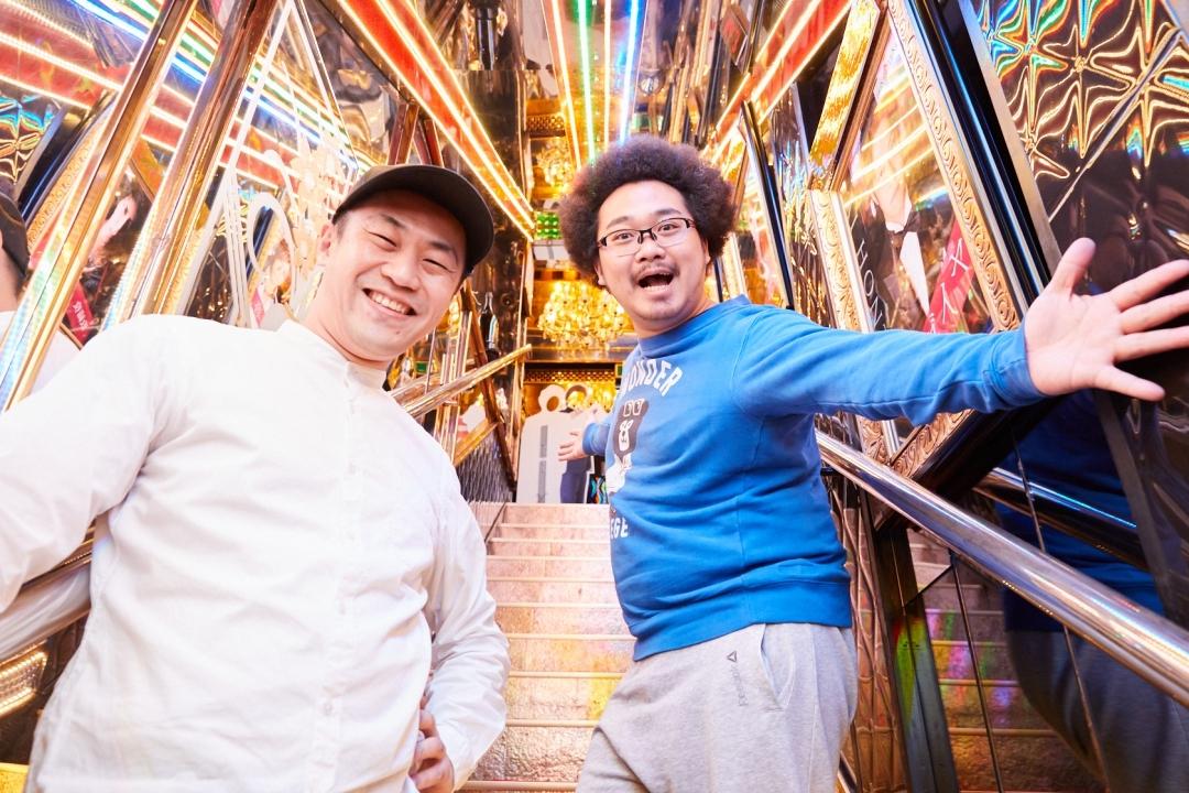 左から、柴本新悟氏(CONNECT歌舞伎町プロデューサー)、アフロマンス