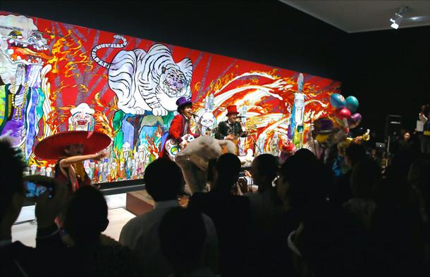 「村上隆の五百羅漢図展」に登場したゆず。